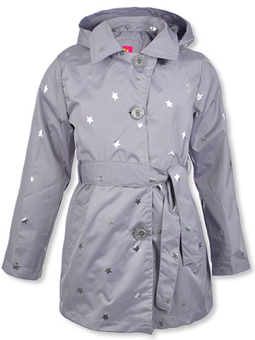 Pink Platinum Girls' Hooded Trench Coat - CookiesKids.com