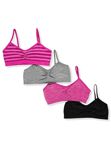 Girls Intimates Girls' 4-Pack Seamless Bras - CookiesKids.com