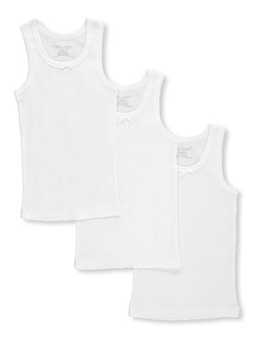 "Rene Rofe Girls' ""Basic Tank Layer"" 3-Pack Tank Tops (Sizes XS – XL) - CookiesKids.com"