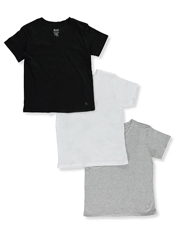 BUM Equipment Little Boys' 3-Pack V-Neck T-Shirts (Sizes 4 – 7) - CookiesKids.com