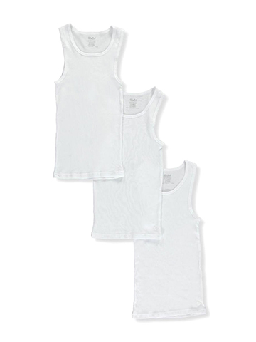 BUM Equipment Little Boys' 3-Pack Ribbed Tanks (Sizes 4 – 7) - CookiesKids.com