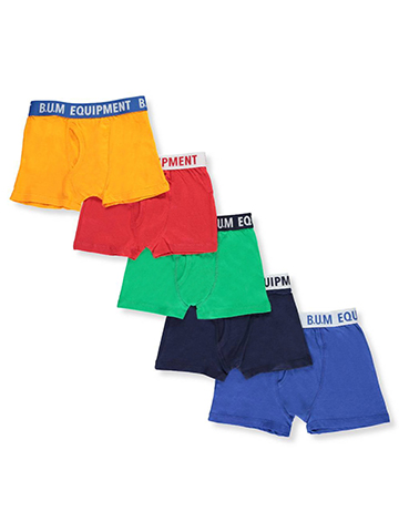 BUM Equipment Little Boys' 5-Pack Boxer Briefs (Sizes 4 – 7) - CookiesKids.com