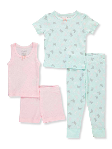 Rene Rofe Baby Girls' 4-Piece Sleepwear Set - CookiesKids.com