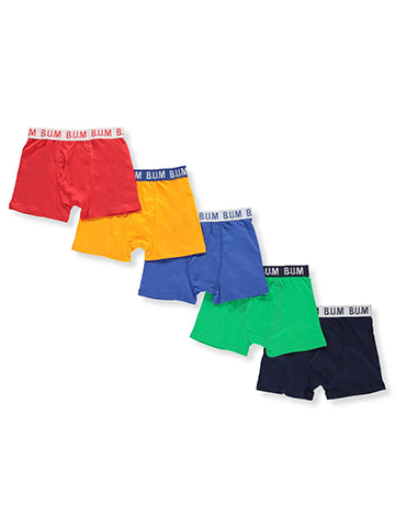 BUM Equipment Boys' 5-Pack Boxer Briefs - CookiesKids.com