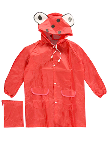 "CloudNine ""Ladybug Luck"" Raincoat (Kids One Size) - CookiesKids.com"