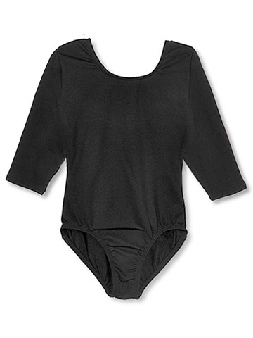 Jacques Moret Big Girls' 3/4 Sleeve Dance Leotard (Sizes 7 - 16) - CookiesKids.com