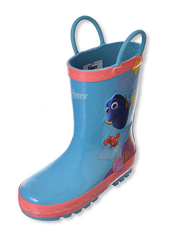 "Disney Finding Dory Girls' ""Under the Sea"" Rain Boots (Toddler Sizes 7 – 12) - CookiesKids.com"