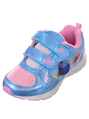 "Disney Finding Dory Girls' ""Friendly Swim"" Light-Up Sneakers (Toddler Sizes 7 – 12) - CookiesKids.com"