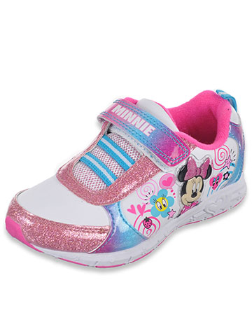 "Minnie Mouse Girls' ""Swirly Sweet"" Sneakers (Toddler Sizes 7 – 12) - CookiesKids.com"