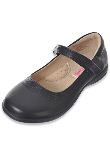 "Laura Ashley Girls' ""Infinity Stitch"" Mary Janes (Youth Sizes 13 – 4) - CookiesKids.com"