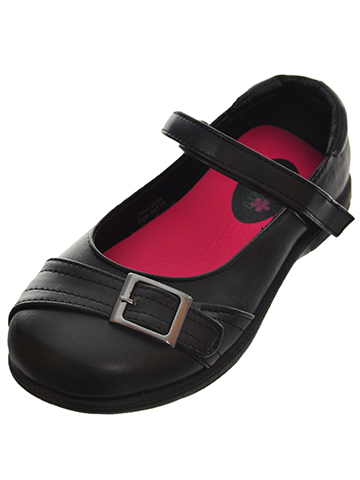 "Petalia Girls' ""Buckled Stitch"" Mary Janes (Toddler Sizes 9 – 12) - CookiesKids.com"