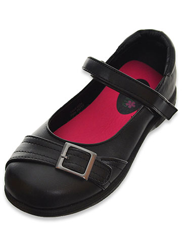 "Petalia Girls' ""Buckled Stitch"" Mary Janes (Youth Sizes 13 – 4) - CookiesKids.com"