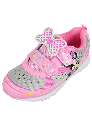 Minnie Mouse Girls' Light-Up Sneakers (Toddler Sizes 7 – 12) - CookiesKids.com