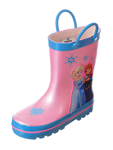 Disney Frozen Girls' Rain Boots Featuring Anna & Elsa (Toddler Sizes 7 – 12) - CookiesKids.com