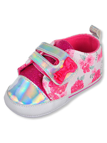 Laura Ashley Baby Girls' Sneaker Booties - CookiesKids.com