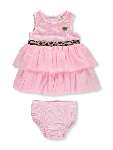 Juicy Couture Baby Girls' Dress with Diaper Cover - CookiesKids.com