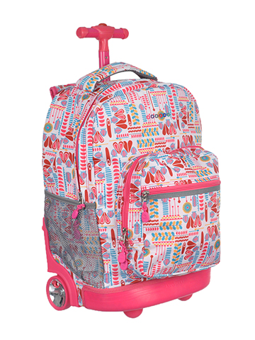 "J World ""Graphic Pop"" Rolling Backpack - CookiesKids.com"