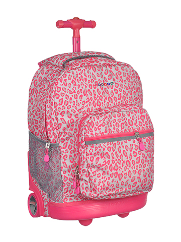 "J World ""Neon Cheetah"" Rolling Backpack - CookiesKids.com"
