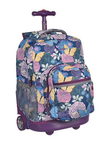 "J World ""Vintage Floral"" Rolling Backpack - CookiesKids.com"