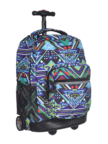"J World ""Weekender"" Rolling Backpack - CookiesKids.com"