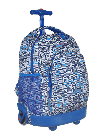 "J World ""Geo Study"" Rolling Backpack - CookiesKids.com"