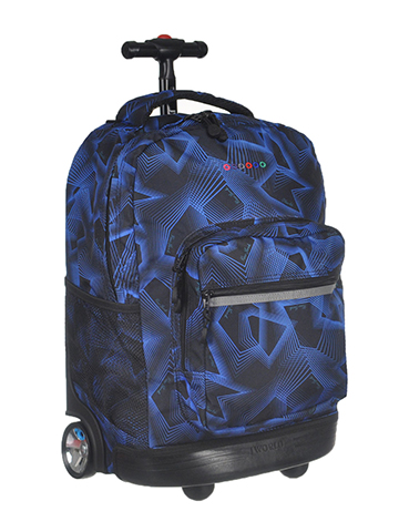 "J World ""Laser Lights"" Rolling Backpack - CookiesKids.com"