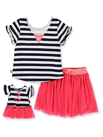 Dollie & Me Girls' 2-Piece Outfit with Doll Outfit - CookiesKids.com