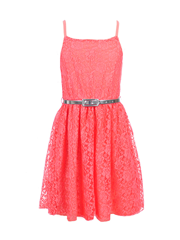 Dream Star Girls' Belted Dress - CookiesKids.com