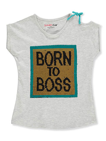 Dream Star Girls' Cold Shoulder T-Shirt - CookiesKids.com