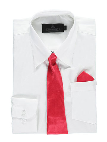 "Vittorino ""Silky Special"" Dress Shirt & Tie Combo (Sizes 8 – 20) - CookiesKids.com"