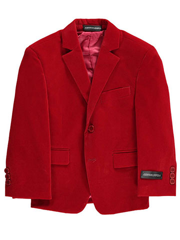 "Kids World Little Boys' ""Velour Touch"" Sportcoat (Sizes 4 – 7) - CookiesKids.com"
