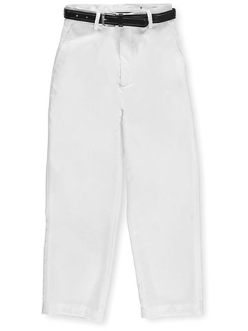 Vittorino Big Boys' Belted Flat Front Dress Pants (Sizes 8 – 20) - CookiesKids.com
