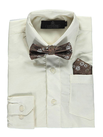 Vittorino Little Boys' Dress Shirt with Accessories (Sizes 4 – 7) - CookiesKids.com