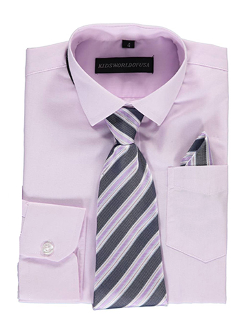 Kids World Little Boys' Dress Shirt with Accessories (Sizes 4 – 7) - CookiesKids.com