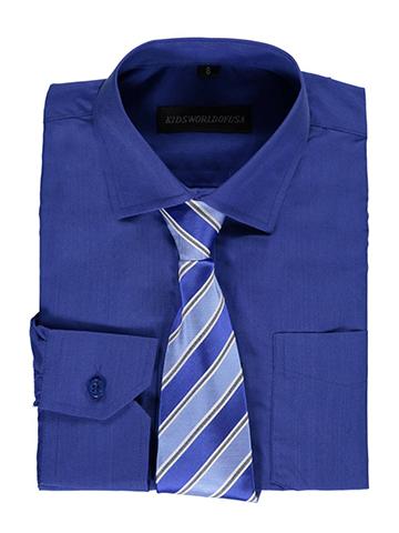 a495eaf5d7282e Kids World Big Boys  Dress Shirt with Accessories (Sizes 8 – 20) -