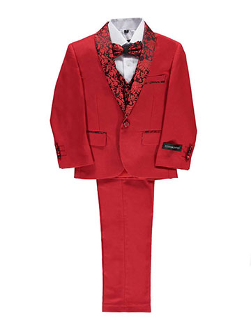 "Kids World Little Boys' Toddler ""Winthrop"" 5-Piece Suit (Sizes 2T – 4T) - CookiesKids.com"
