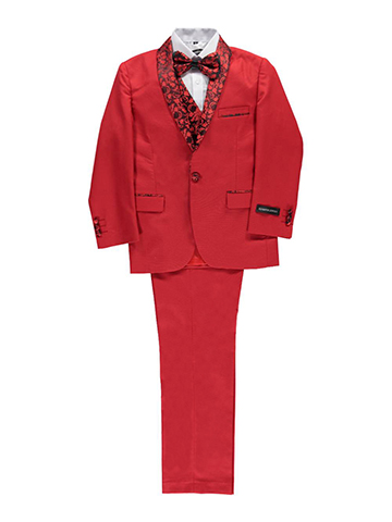 "Kids World Big Boys' ""Winthrop"" 5-Piece Suit (Sizes 8 – 20) - CookiesKids.com"