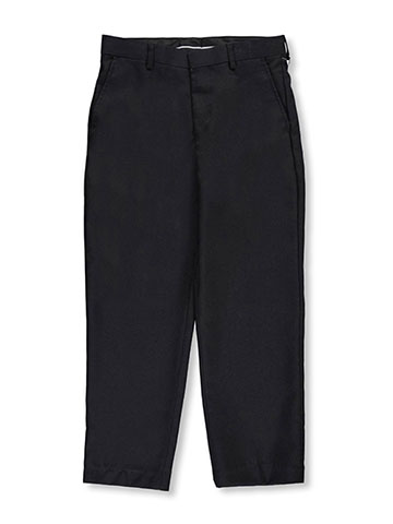 Vittorino Big Boys' Husky Flat Front Slim Fit Dress Pants - CookiesKids.com