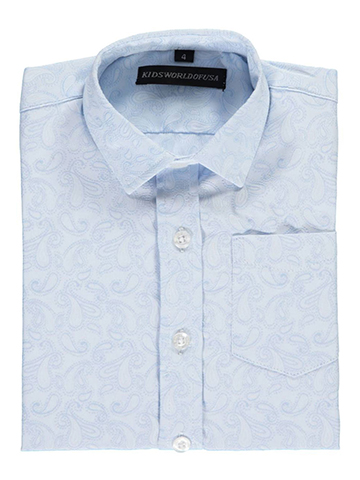 "Kids World Little Boys' ""Baby Paisley"" Dress Shirt (Sizes 4 – 7) - CookiesKids.com"