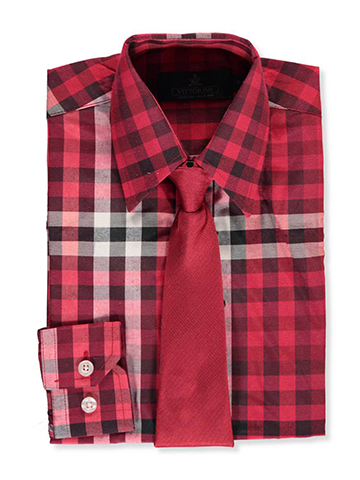Vittorino Little Boys' Dress Shirt with Tie (Sizes 4 – 7) - CookiesKids.com