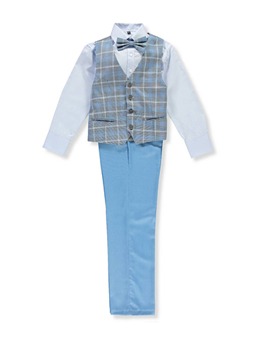 Kids World Boys' 4-Piece Vest Set - CookiesKids.com