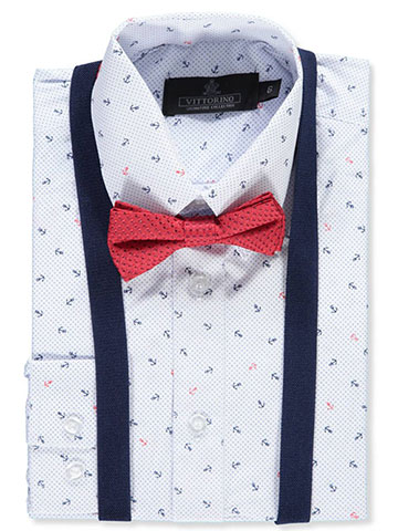 Vittorino Boys' Dress Shirt with Accessories - CookiesKids.com