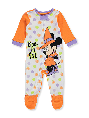Minnie Mouse Baby Girls' Footed Coverall - CookiesKids.com