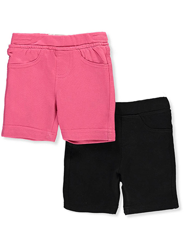 Pink Velvet Baby Girls' 2-Pack French Terry Shorts - CookiesKids.com