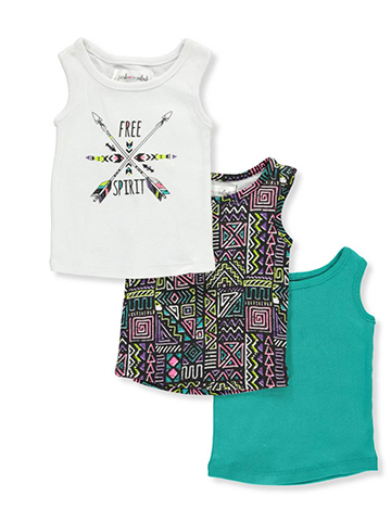 Pink Velvet Baby Girls' 3-Pack Tank Tops - CookiesKids.com