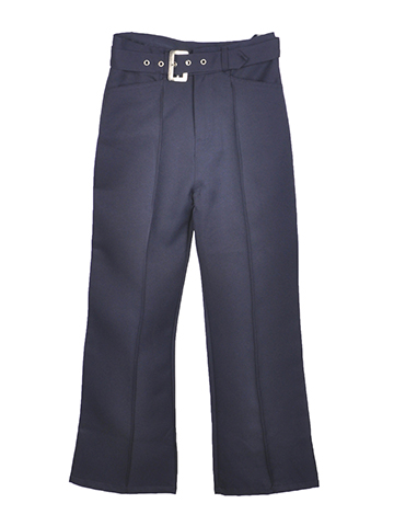 Genuine Big Girls' Flared Pants with Belt (Sizes 7 - 20) - CookiesKids.com