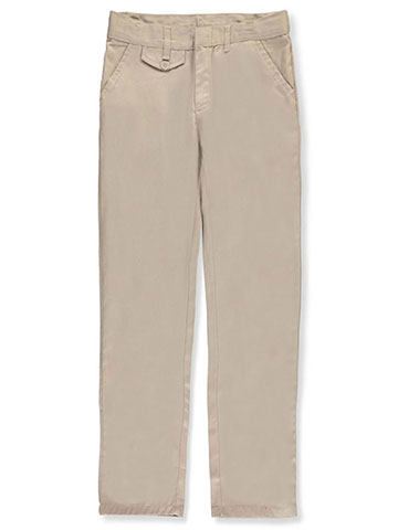 Genuine Big Girls' Straight Leg Flat Front Pants (Sizes 7 - 20) - CookiesKids.com