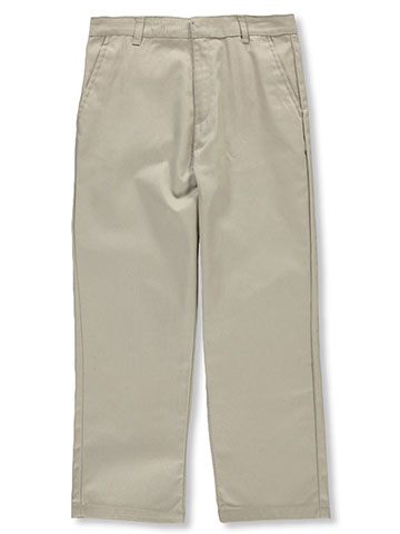 Genuine Big Boys' Husky Flat Front Twill Pants (Husky Sizes) - CookiesKids.com
