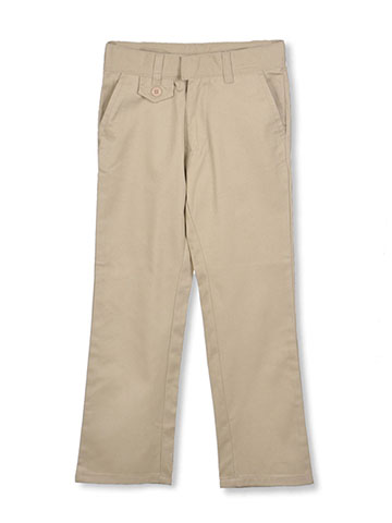 U.S. Polo Assn. Little Girls' Flap Accent Uniform Pants (Sizes 4 - 6X) - CookiesKids.com