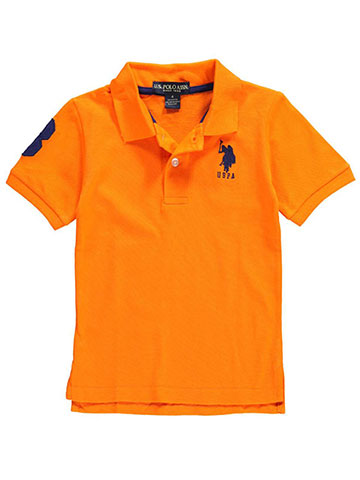 "U.S. Polo Assn. Little Boys' ""Logo 3 Sleeve"" Pique Polo (Sizes 4 – 7) - CookiesKids.com"